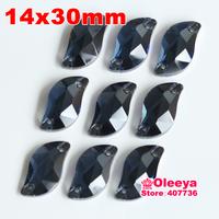 72pcs 14*30 mm S shape Sew-on Stone Mintans Beauty Fish Sew On Rhinestones for bride dress making
