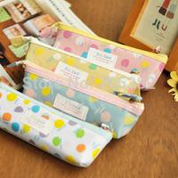 Free shipping! Colorful dot design Pencil bag,handmade canvas pencil bag,wholesale price(tt-962)
