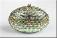 free shipping new 2014 crystal cute lady purses high quality women brand clutch handbag small evening bags BB4747