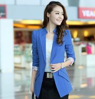 D25 New Design Women Autumn plus size M-XXL Cotton Blends stylish comfortable coat Blazers Female Slim Small Suit outwear jacket