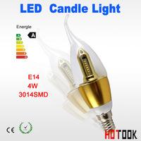 10PCS] LED Candle light High power 3014 SMD Led Lamp 4W E14 85-265V Led Spotlight led bulb ceiling LED lights downlight lighting