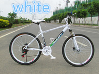 014 new alloyl fashion 26 inch mountain bike variable suspension type 24 speed bicycle for men and women