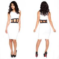 New sexy hot hot sexy bandage dress  new fashion explosion models women dress Free Shipping