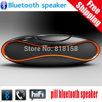 10sets Free DHL High Quality QFX SD/AUX/USB/FM Rechargeable Bluetooth Speaker with Built-in Microphone + Retail Box, SPKQ8