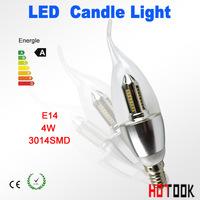 White LED candle light 3014SMD bulb lamp led Ceinging Light High brightness bulbs 4W E14 85-265V Cold white/warm white for home
