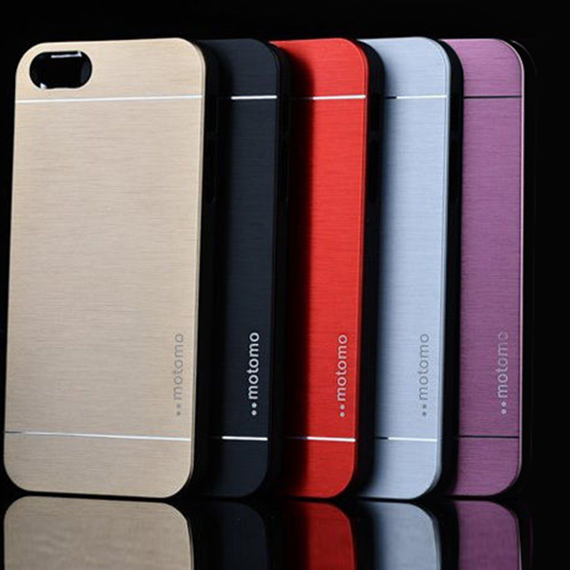 New Fashion Ultra Slim Aluminum Brushed Metal Hard Back Cover Case For iPhone5/5S Free Shipping XCA0104(China (Mainland))