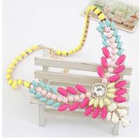 Luxury Design Shourouk Gem Chunky Collar Choker Statement Necklaces & Pendants New 2014 Fashion Jewelry Women Wholesale N176
