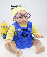 "22"" \ 50 cm Reborn Baby Doll Soft Toys Silicone Vinyl Baby Alive Dolls For Girls Lifelike Handmade Baby Gift"