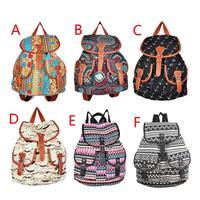 Lady Ethnic Style Bookbag Travel Rucksack School Bag Satchel Canvas Backpack Free Shipping S5Q