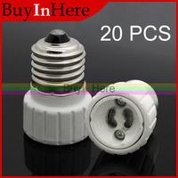 20PCS E27 Male to GU10 Female Screw Base Holder Socket LED Halogen CFL Light Bulb Lamp Bulbs Adapter Converter