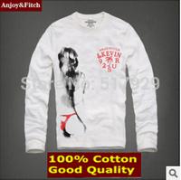 brand Mens T Shirt XXXL 2014 Autumn Winter Cotton T-Shirt Casual Slim Long-Sleeve For Men Tshirt abercr for ombie o-neck t-shirt