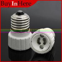 E27 Male to GU10 Female Screw Base Holder Socket LED Halogen CFL Light Bulb Lamp Bulbs Adapter Converter
