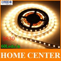 5M 5630 300Leds LED Strip Light Warm White Super bright 60Leds/m DC12V