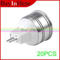 20PCS Energy Saving MR16 1W 12V Warm WHITE LED SPOTLIGHT LAMP BULB Spot LIGHT Lighting Bulbs