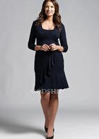 Fashion maternity fashion one-piece dress long-sleeve rayon knitted maternity dress