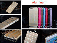 For iPhone 6 Aluminum Case, Luxury Aluminum Metal Grid Electroplating Hard Case for iphone 6