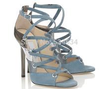 JC Newest sandals Cross-strap Cut-outs brand Fashionable sandals women's pumps