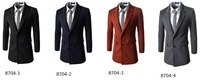 men's winter  2014 new fashion trench coat men  long  suit men Double pocket  wool coat men Overcoat Outerwear -CZJ227C
