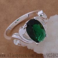 AR350 925 sterling silver ring, 925 silver fashion jewelry, 8 / green stone shape /intarfaa cjvalbca