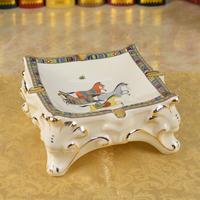 of the ancient ceramic ashtray flower porcelain palace garden luxury Phnom Penh big personality Home Furnishing ashtray