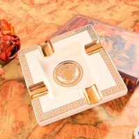 European Ceramic ashtray personalized gifts European fashion ceramic retro ashtray ashtray special decoration