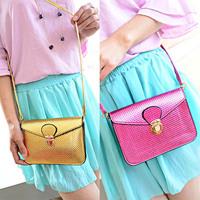 New Mini Gold Diagonal Package Bag Tyrant Glossy Clutch Handbag Trendy For Freeshipping