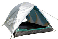 2014 New arrival cheap hot tent, 3-4 person double layers camping one bedroom three-season waterproof sun shelter tent