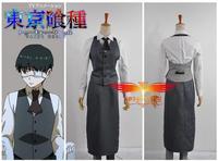 Hot Sale Custom Made Tokyo Ghoul Ken Kaneki Working Uniform Cosplay Costume
