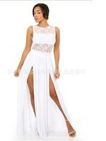 Bandage Bodycon Celebrity Style Women's  krueevo eenschina midi pencil Lace  bouffancy Dress  Y118