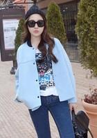 2014 baseball uniform female space cotton design short outerwear loose jacket top female