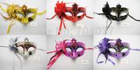 (500 pcs/lot) Handmade Party Supplies Plastic with Silk Flower Women Masks Masquerade Ball Masks Dance masks Free Shipping