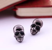Fashion skull Stud Earrings Women Men 10pcs/lot Free Shipping