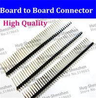 100pcs 1x40 single row 40pins 2.54mm male pin header board to board connectors