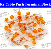 Best price and High Quality 500pcs K2 cable push terminal block/pluggable wire terminal block