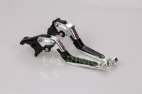 CNC Folding Foldable Extendable brake clutch levers For Ducati MONSTER M400 1999-2003 2000 2001 2002 Silver with Black