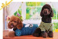 Cute Pet Dog Cat Clothes Apparel Cotton Rabbit Shape Stripe T-Shirt Material Cotton Blend  HW089