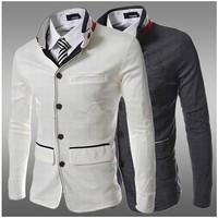 Blazer Suede Mens Slim Fit Blazer Suit Jacket Men Summer Terno Slim Fit Masculino High Quality Mens Casual Blazer Suit Jacket
