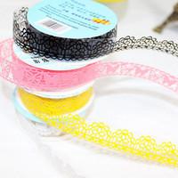 (Min order is $10) Cutout lace tape lace diy photo album photo album corner posts b943