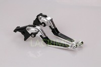 CNC Folding Foldable Extendable brake clutch levers For Ducati ST4/S/ABS 1999-2002 2000 2001 Silver with Black