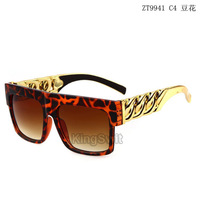 2014 New Vintage Gold Chain Sunglasses For Men/Women Retro Gafas Oculos de sol Beyonce Oversize Style Flat Top sun glasses