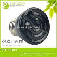 FREE SHIPPING Black Ceramic lamps for Pet 20W/40W/60W/80W/100W High quality Mini tortoise lizard Warming Light