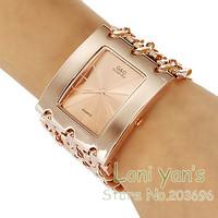 Luxury Watch Big Band Rose Gold Quartz Watches Men Women Wriatwatch Free Ship