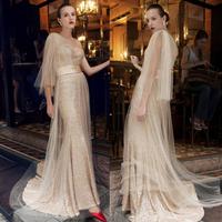 Hot One-Shoulder Luxury Sequin Mermaid Prom evening dress 2014 vestido de festa dress party evening elegant long 2014 crystal