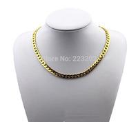 2014 Fashion men jewelry colar vintage joias ouro 18k gold chain colar masculino chunky bijoux men necklace