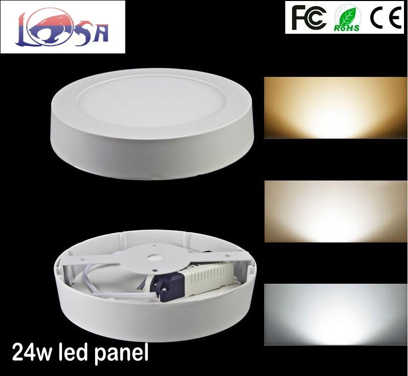 85-220v Round 24W round led flat panel ceiling light,120pcs SMD2835 ceiling mounted led panel light,10pcs/lot,free shipping!(China (Mainland))