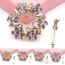 Fashion Korean Brooch Jewelry Luxury Rhinestone Garland Scarf Clip Brooches Pin upB112