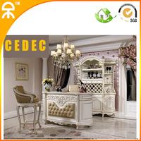 (1 bar table +1 wine cabinet )European modern white home bar furniture for living room  DW--16