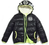 CS043 Free Shipping Hot sale designer clothing 2014 Children clothing leather boys down jacket kid fashion & casual coat retail