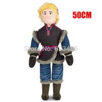 2014 New 20inch Frozen Kristoff Doll Frozen soft Plush Toy 50cm Plush Doll Brinquedos Kids Dolls for Girls Free shipping
