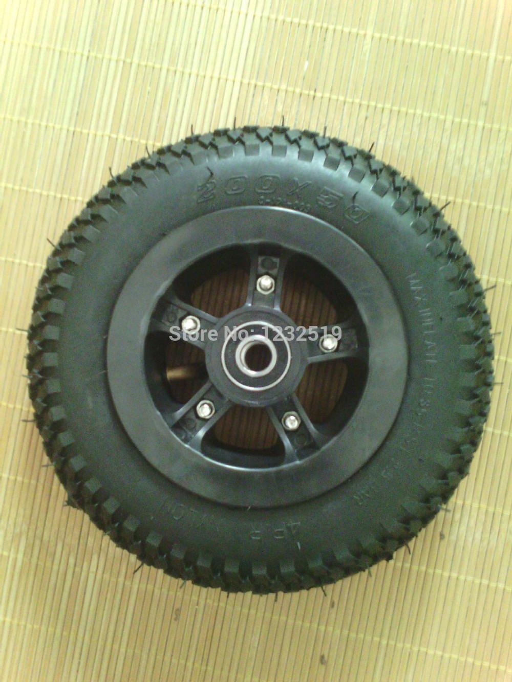 Free Shipping 1pcs 8 Inch Pneumatic Wheels Rubber Wheel